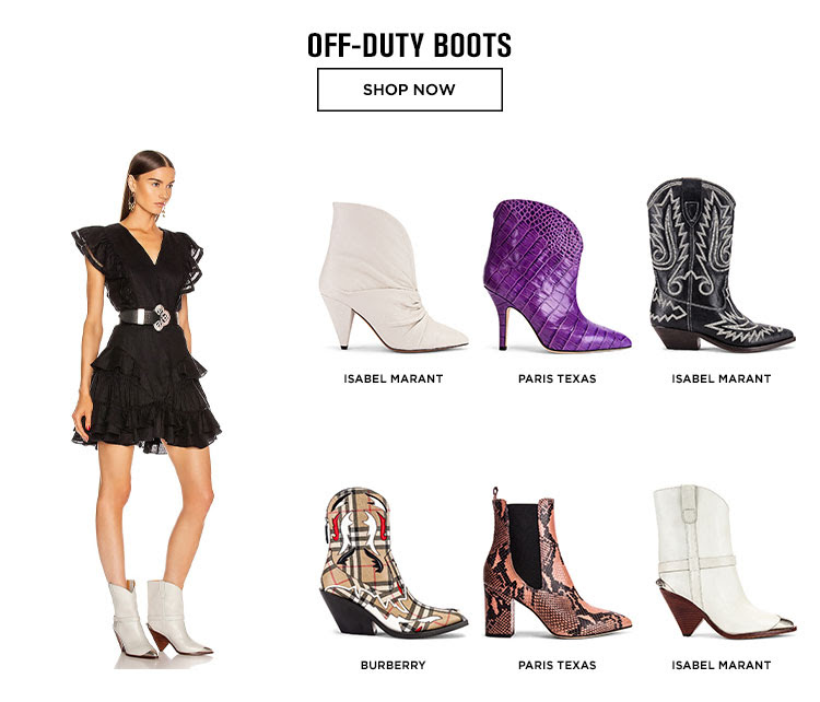 OFF-DUTY BOOTS. SHOP NOW