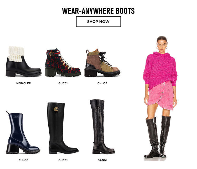 WEAR-ANYWHERE BOOTS. SHOP NOW