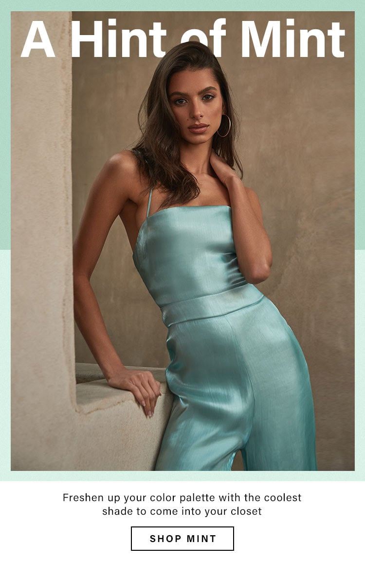 A Hint of Mint: Cutest Color to Wear Resort 2020