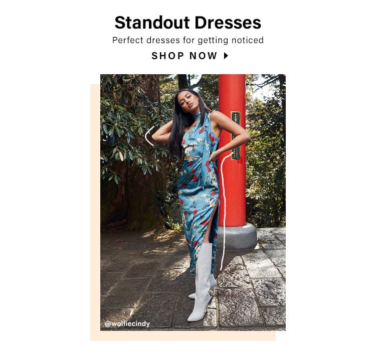 Standout Dresses. Perfect dresses for getting noticed. Shop Now.