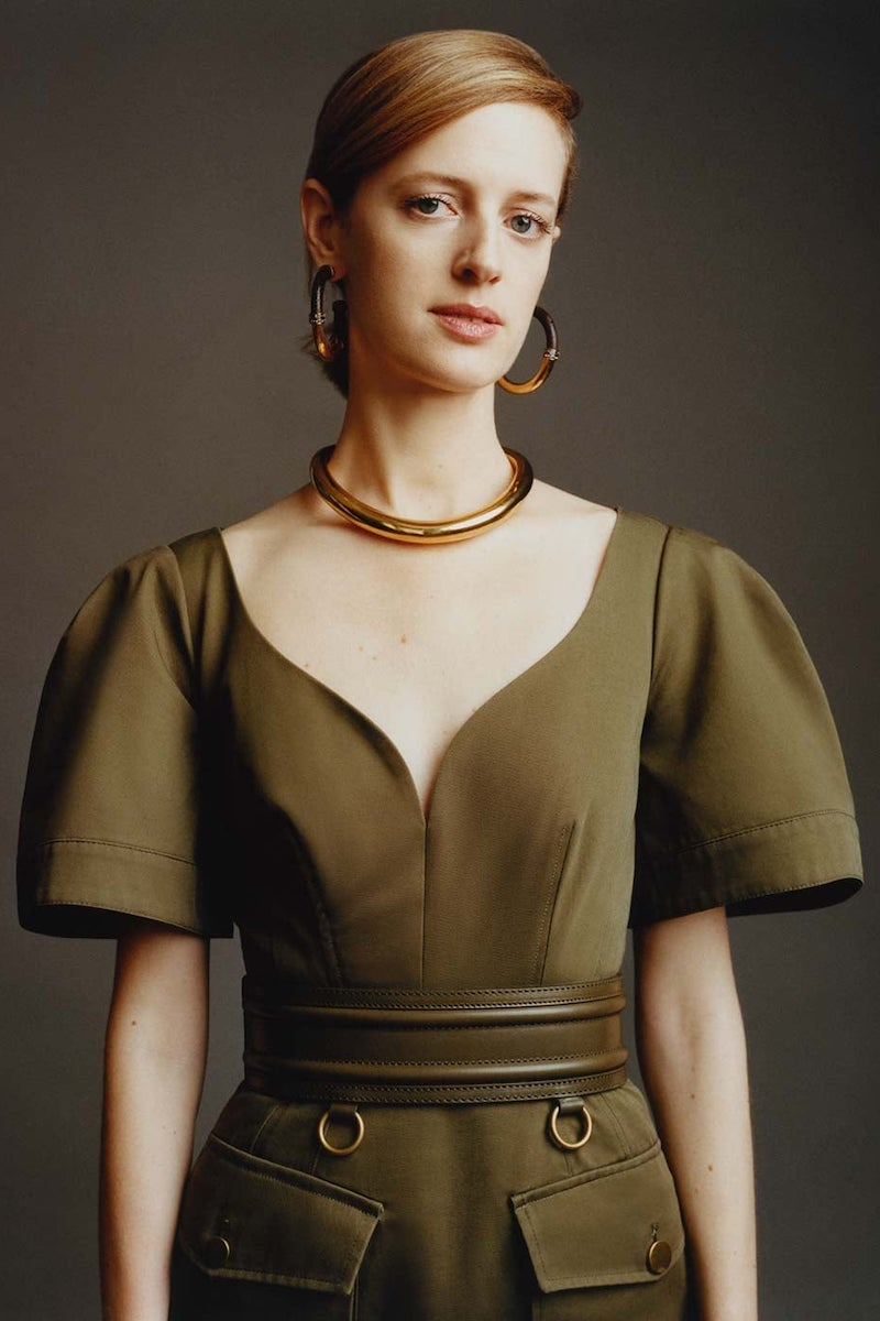 Alexander McQueen Sweetheart-Neckline Cotton-Canvas Midi Dress