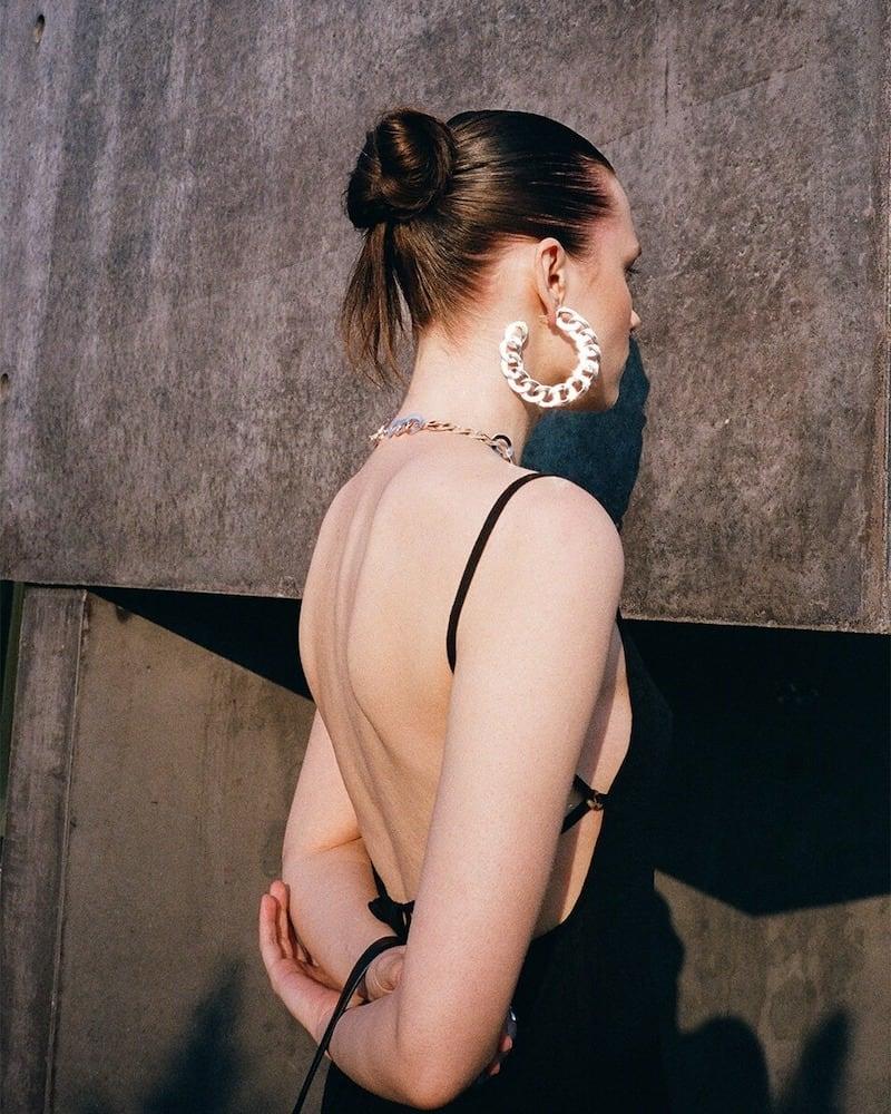 Anemone the Km Tie Ramie Mini Dress