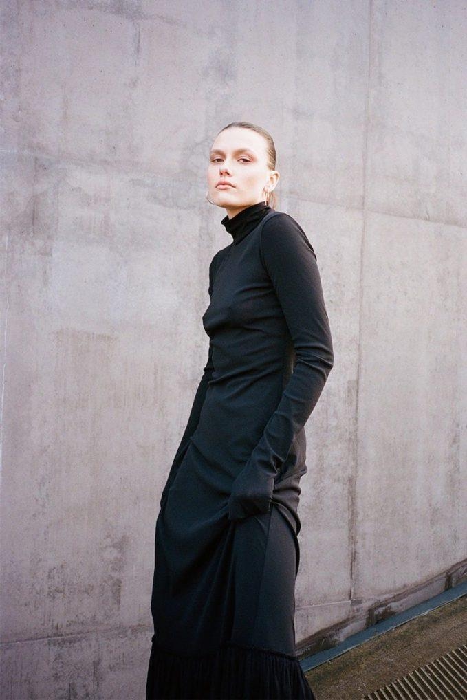Jil Sander Long Stretch Tulle Dress