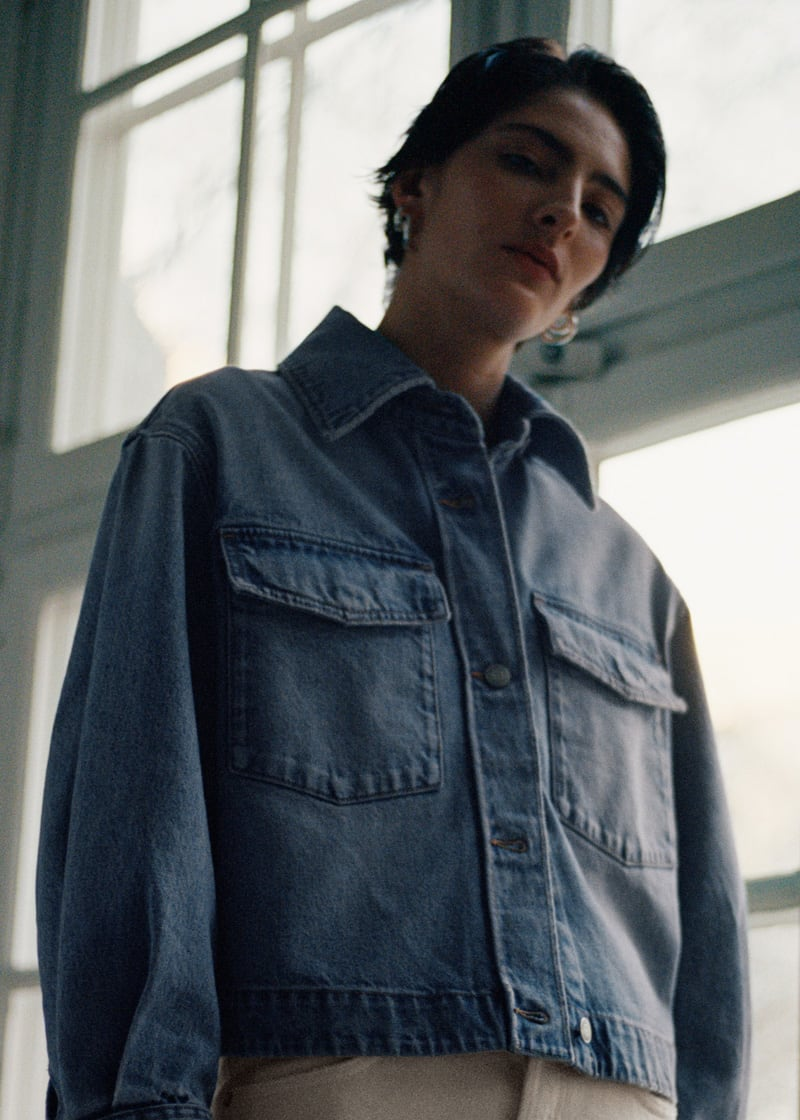 & Other Stories Cropped Boxy Denim Jacket