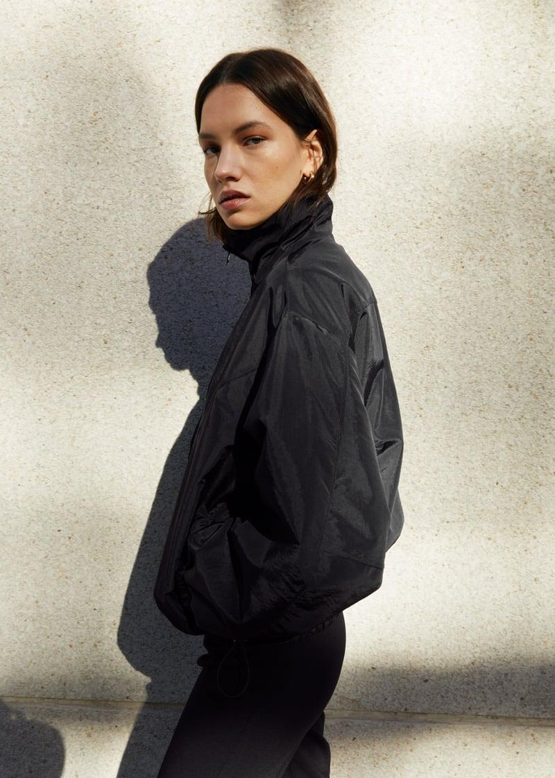 & Other Stories Funnel Neck Nylon Blouson Jacket