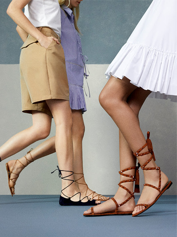 Porte & Paireknotted Leather Sandals