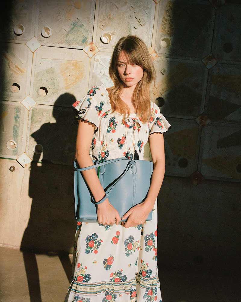 Tory Burch Printed Smocked Dress