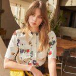 Tory Burch Twill Floral Shirt