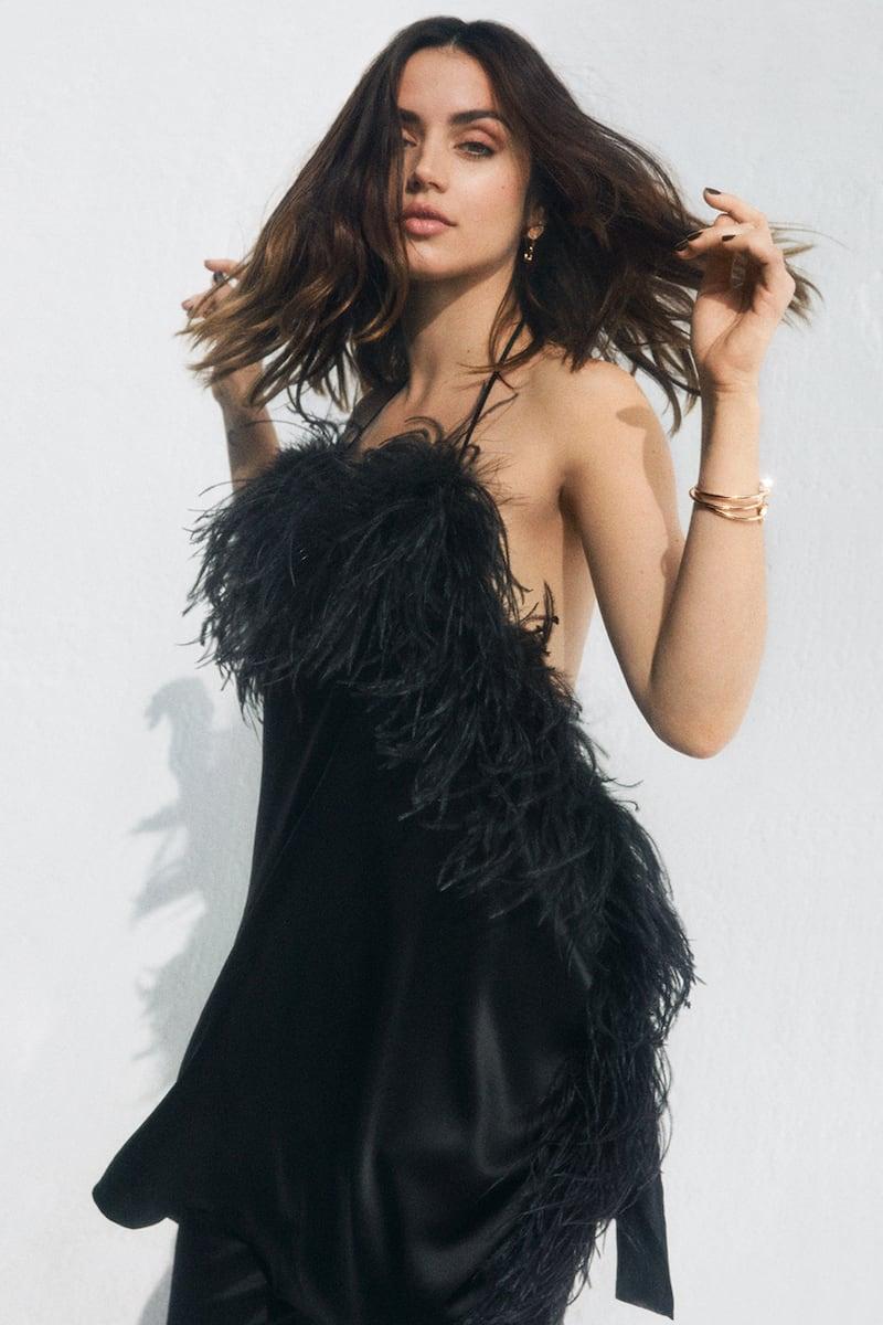 ioannes Asymmetric Feathered-Trimmed Stretch-Silk Satin Mini Dress