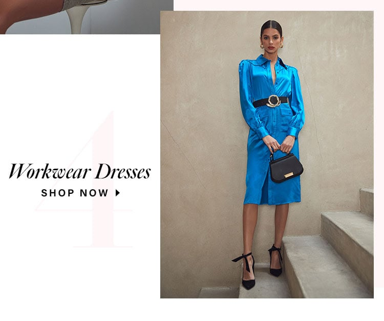 Our Favorite 4 Dresses of the Season. Workwear dresses. Shop now.