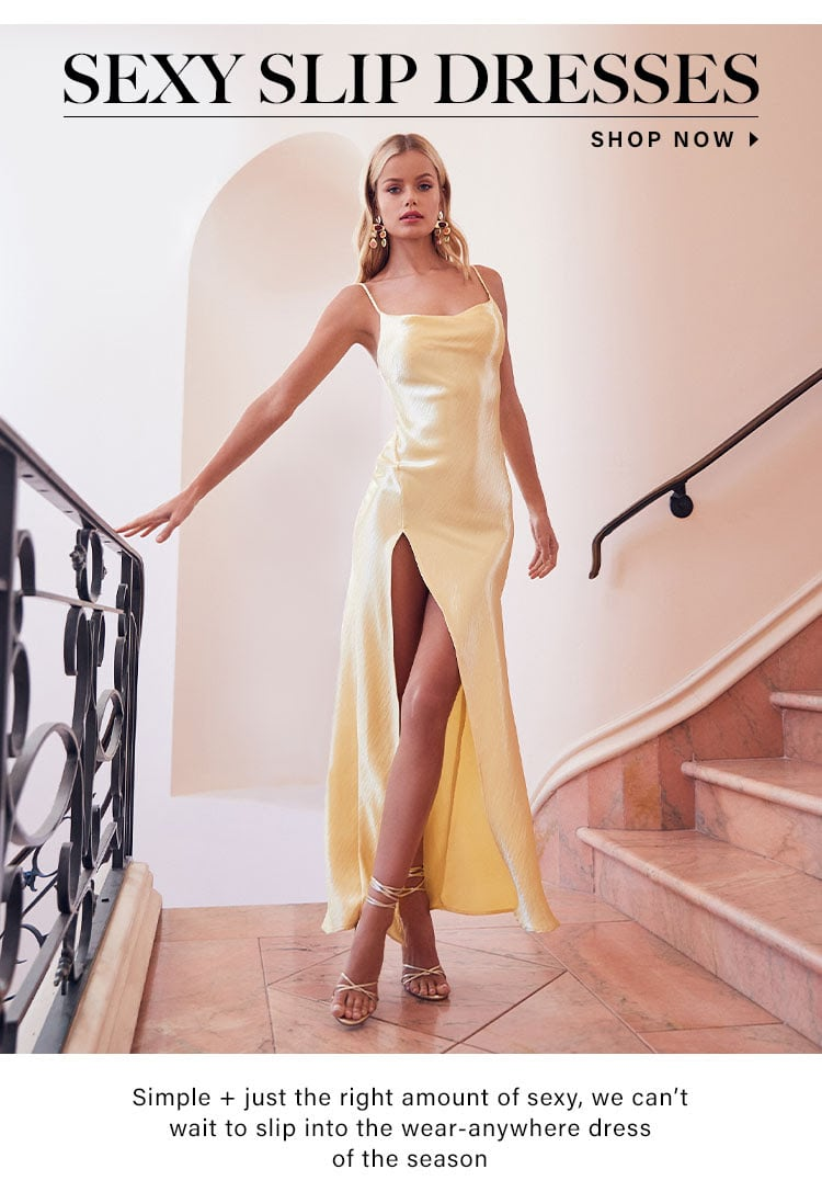 Editorials // Best Sexy Slip Dresses for Spring 2020
