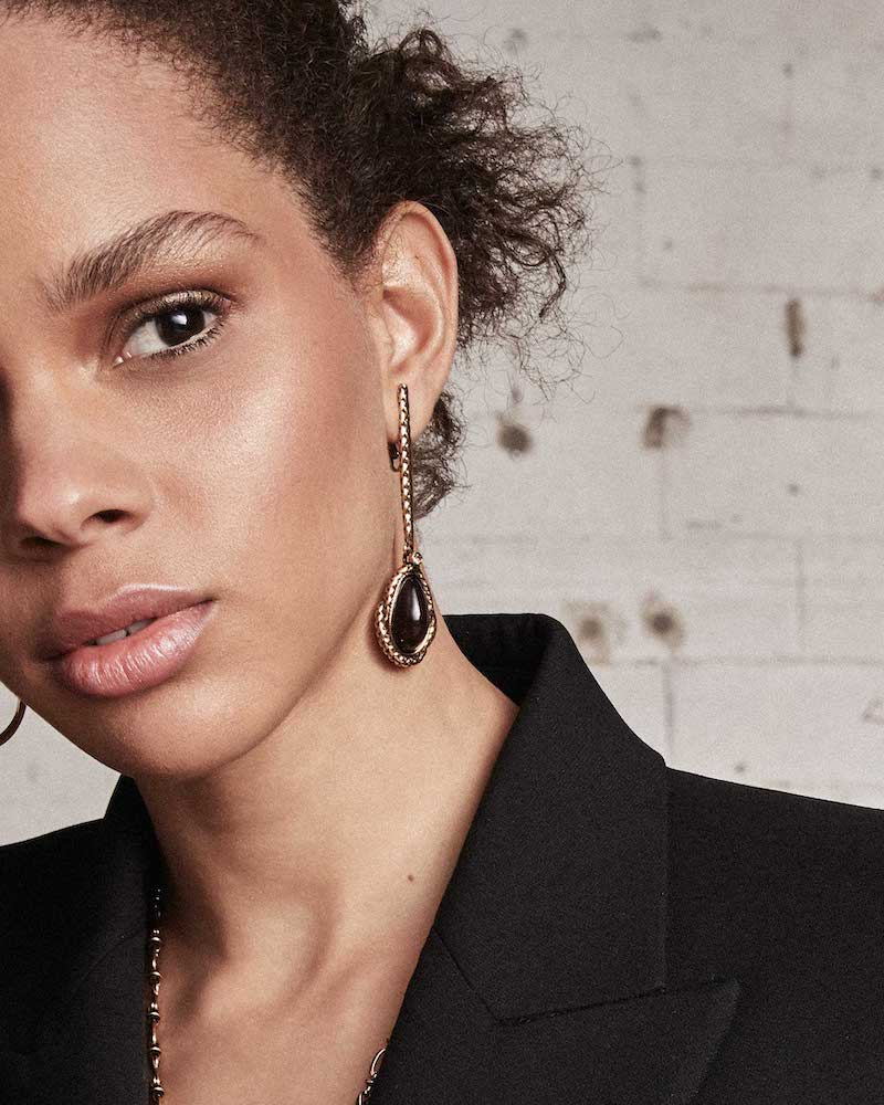 Alexander McQueen Antique Gold-Finished Asymmetrical Earrings