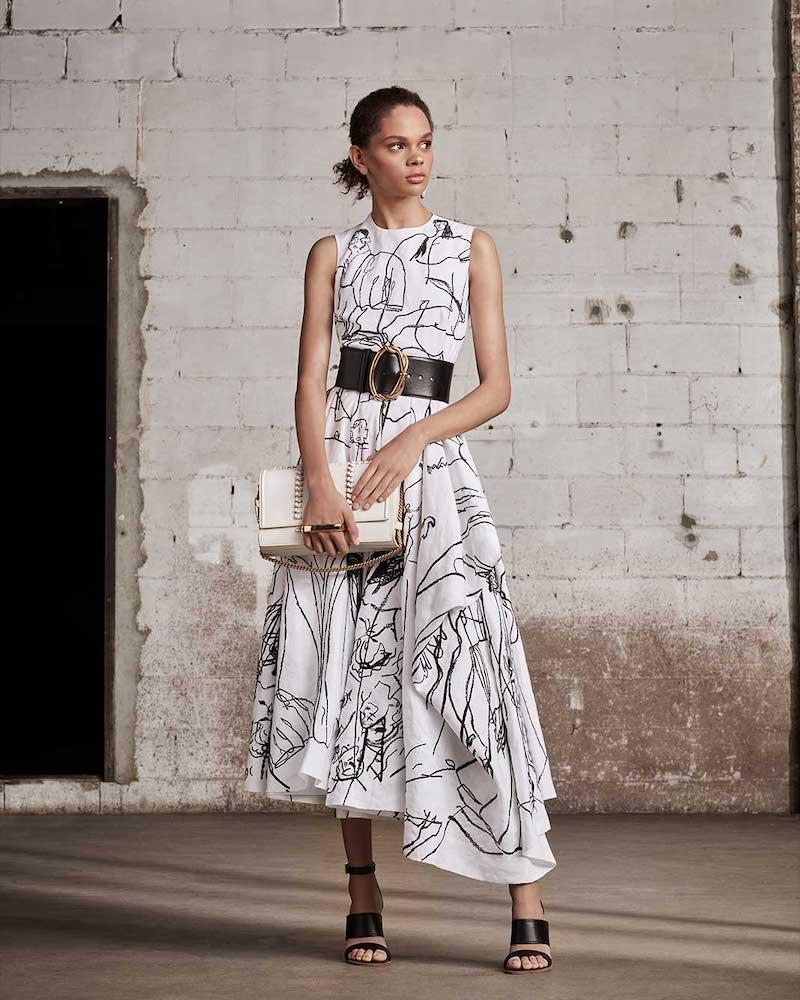 Alexander McQueen Dancing Girl Linen Midi Dress