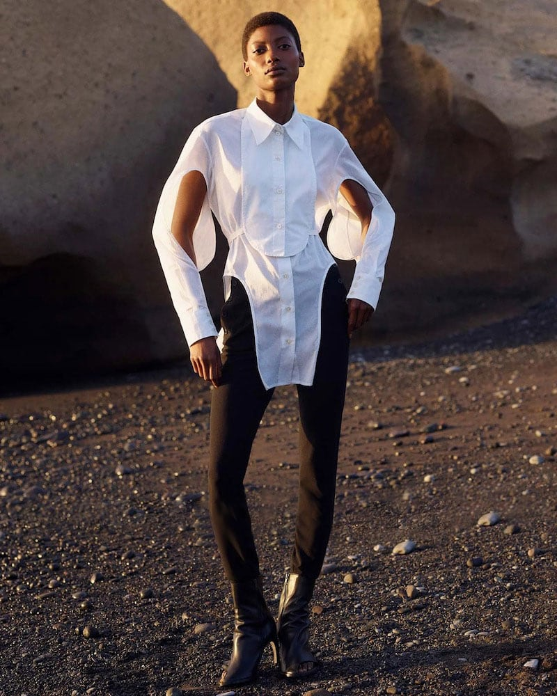 Ann Demeulemeester Cutout Poplin Shirt