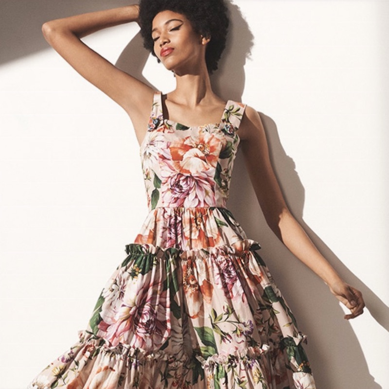 Dolce & Gabbana Floral Poplin Maxi Dress