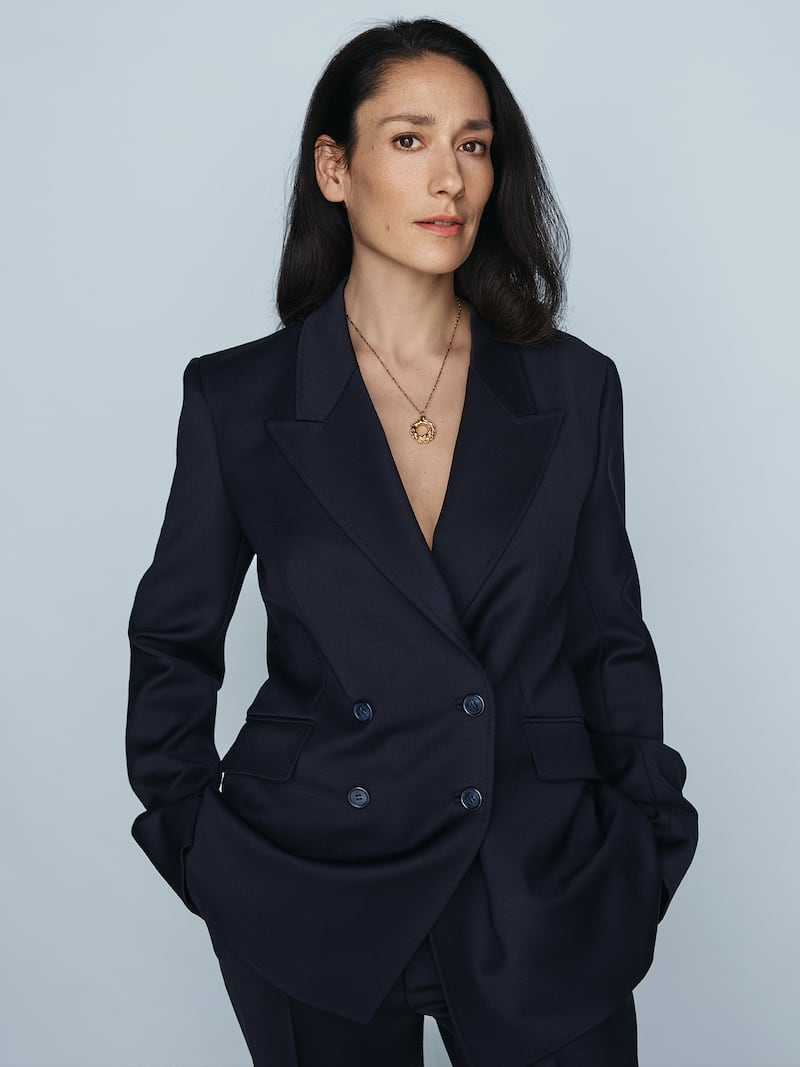 Gabriela Hearst Angela Double-Breasted Wool-Blend Blazer