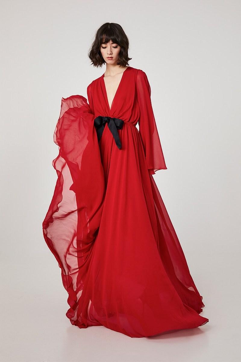 Giambattista Valli Sheer Silk Georgette Long Dress