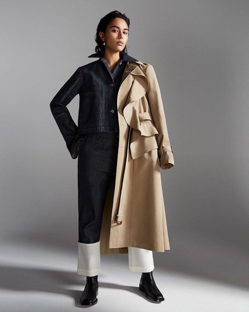 Loewe Contrast-Stitch Denim Jacket