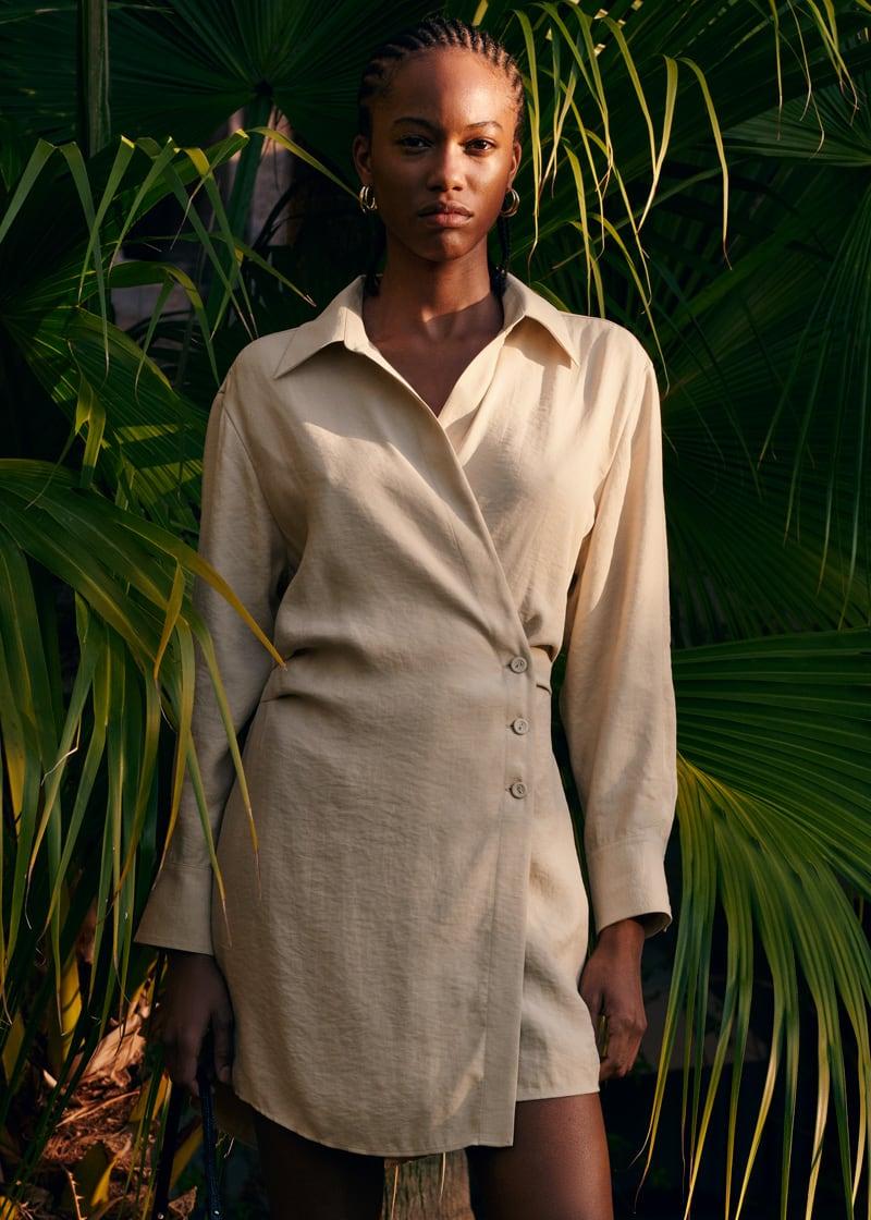 & Other Stories Asymmetric Mini Shirt Dress