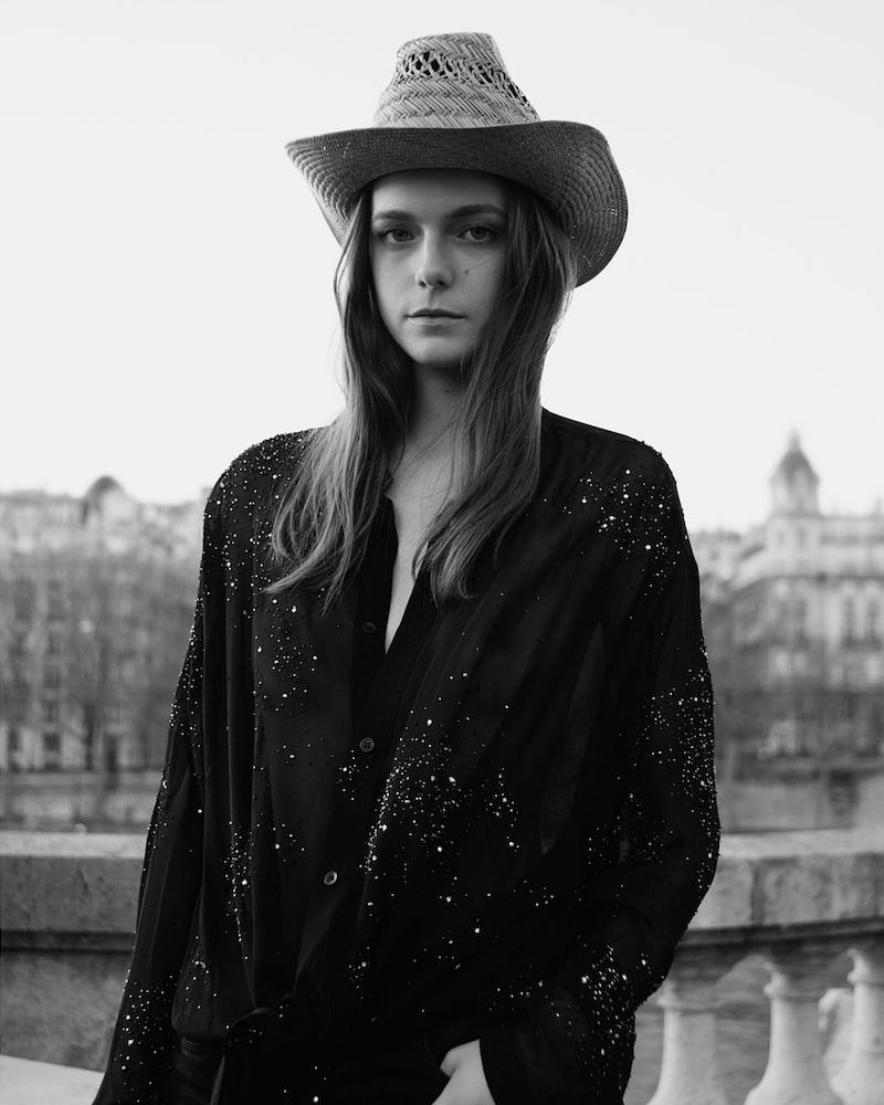 Saint Laurent Leather and Braid-Trimmed Straw Hat