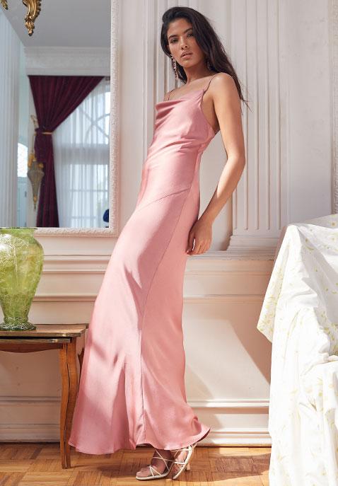 Shona Joy Luxe Bias Cowl Slip Dress