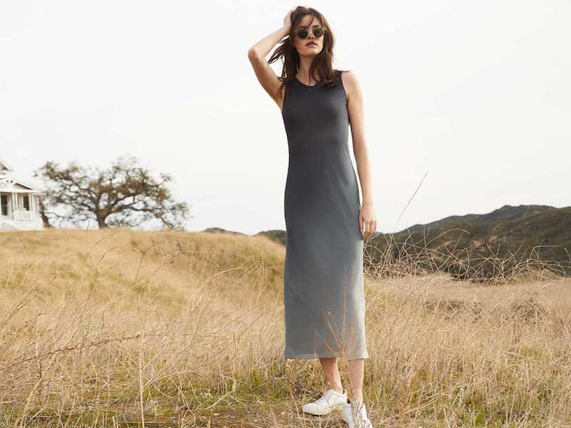Theory Ombre Georgette Bias Slip Dress