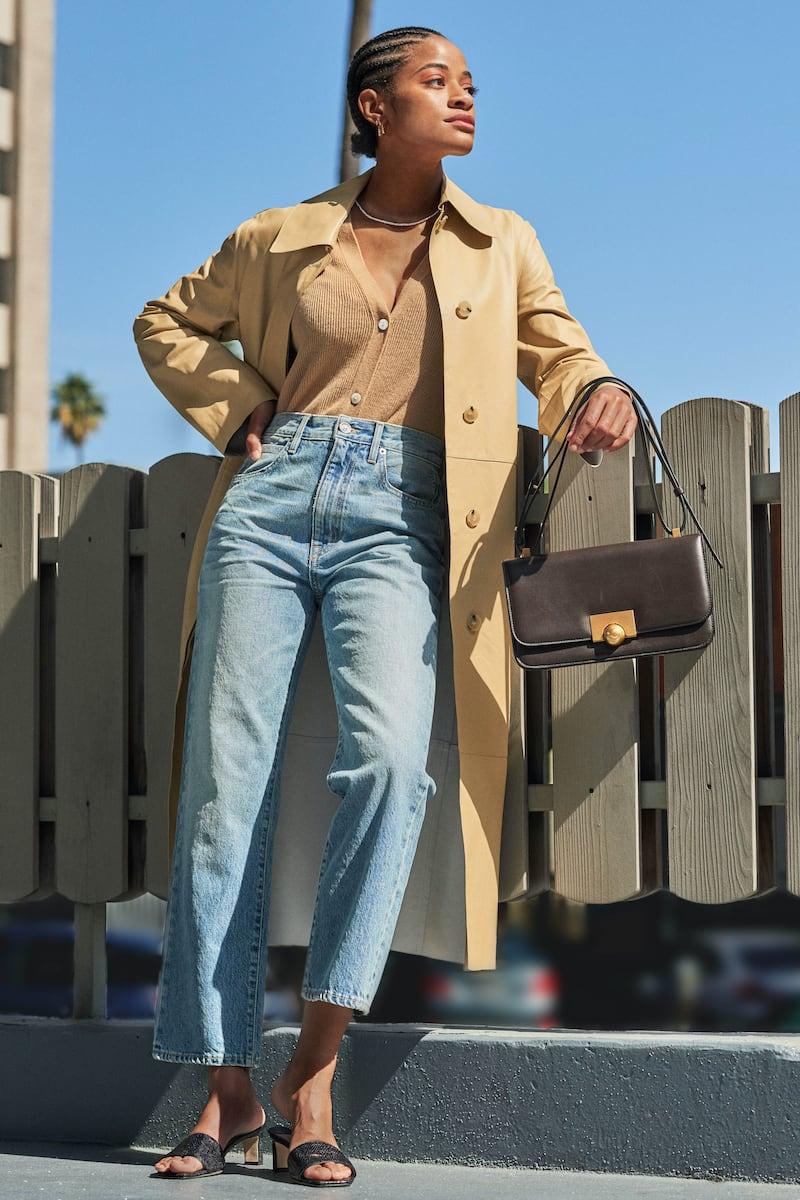 Vince Belted Leather Coat