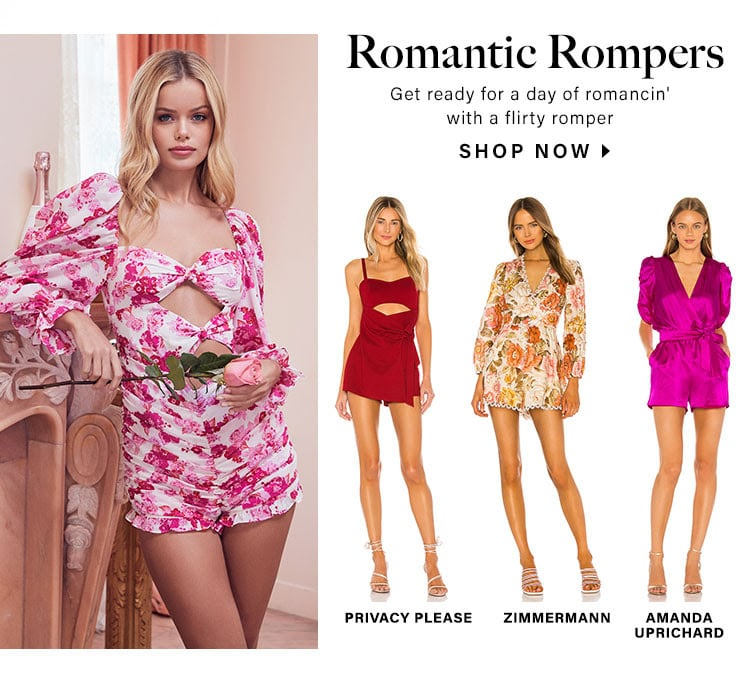 Romantic Rompers. Get ready for a day of romancin' with a flirty romper. Shop now.