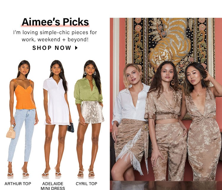 Aimee's Picks. I'm loving simple-chic pieces for work, weekend + beyond! Shop Now.