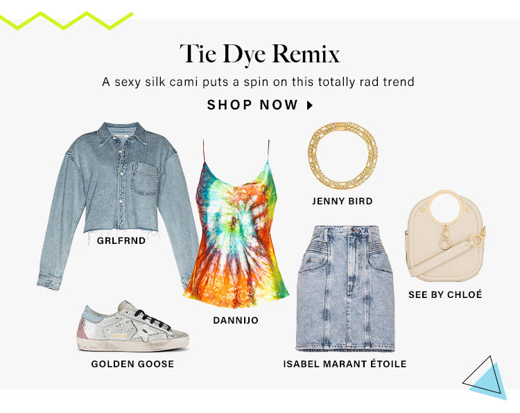 Tie Dye Remix. A sexy silk cami puts a spin on this totally rad trend. Shop Now.