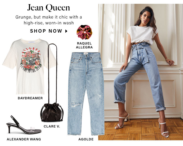 Jean Queen. Grunge, but make it chic with a high-rise, worn-in wash. Shop Now.