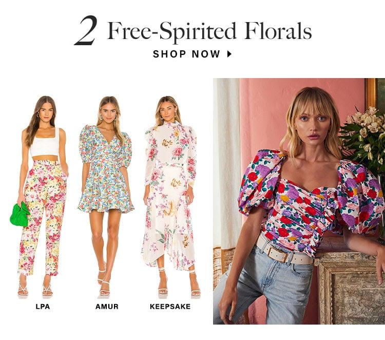 2. Free-Spirited Florals. SHOP NOW