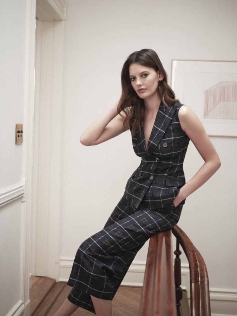 Akris Gernot Plaid Double-Breasted Cotton-Silk Blend Vest