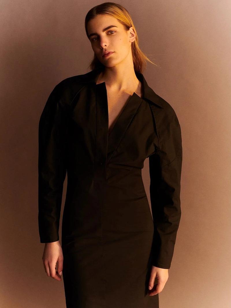 Bottega Veneta Dropped-Shoulder Technical-Cotton Shirtdress