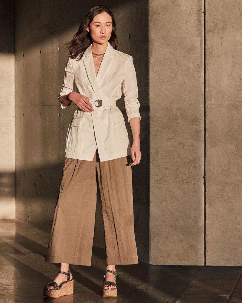 Brunello Cucinelli Crispy Cotton Gabardine Belted Jacket