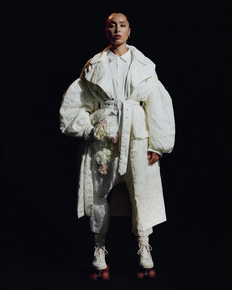 Comme Des Garçons Homme Plus White Ruffle Sleeve Shirt