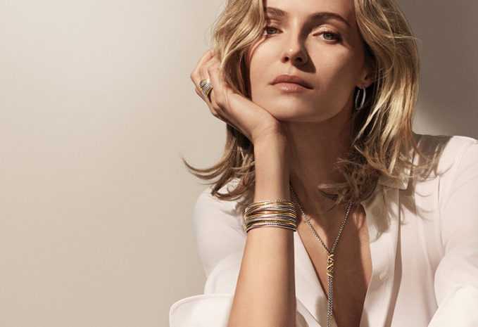 David Yurman DY Crossover Cuff Bracelet with 18k Gold