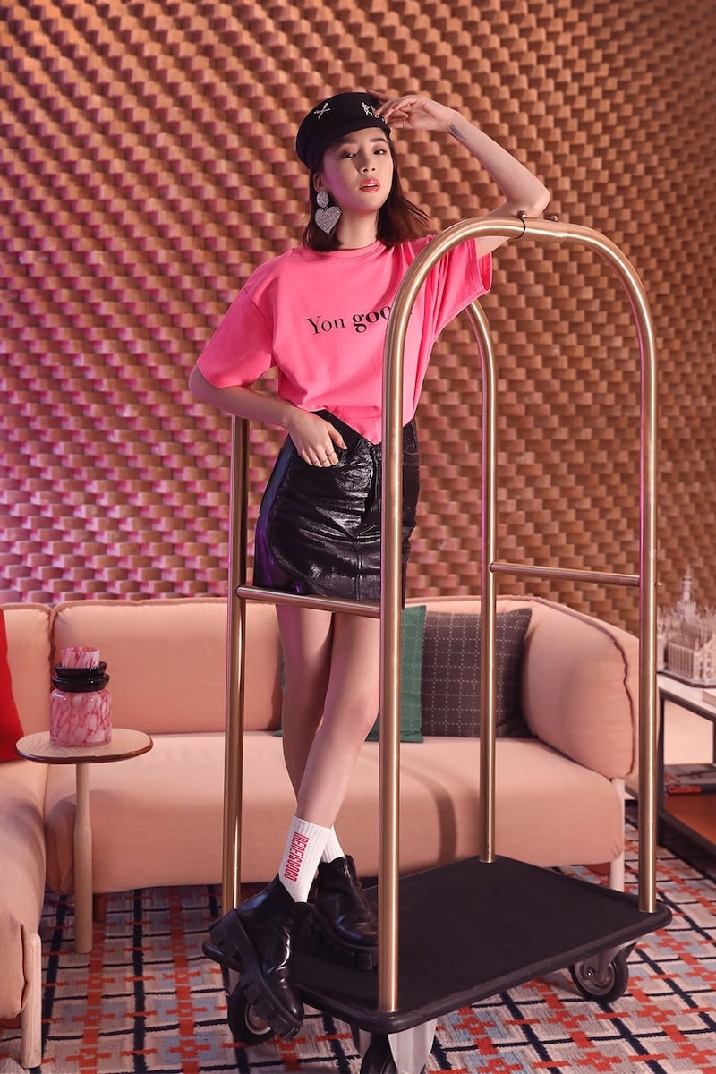 Irene Is Good Embroidered Jersey T-Shirt