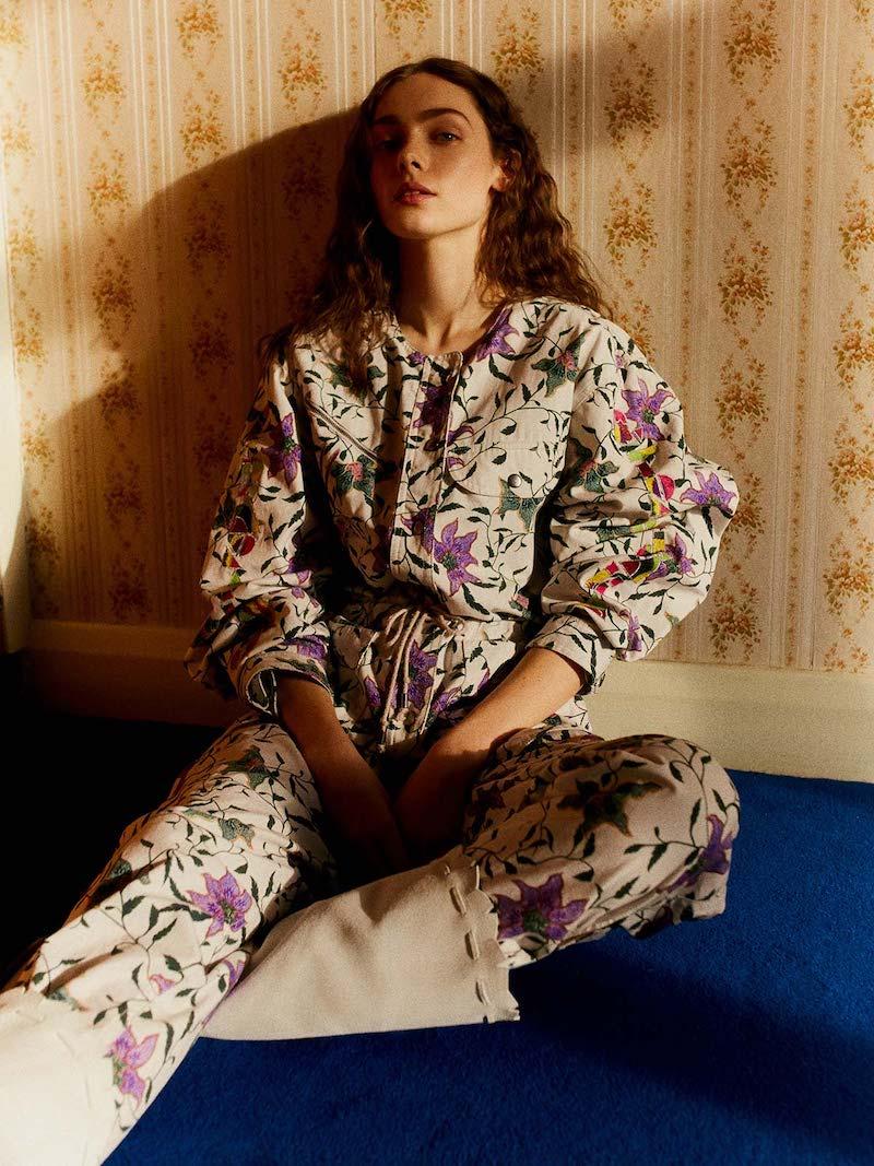 Isabel Marant Gigi Embroidered Floral-Print Jumpsuit