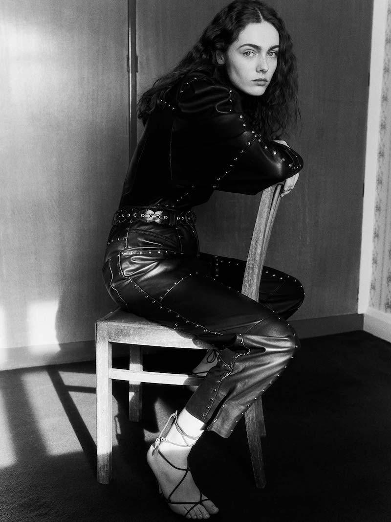 Isabel Marant Viamao Studded Leather Trousers