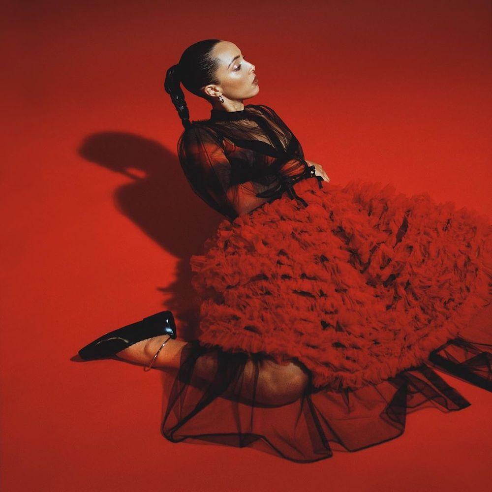 Mowalola Black & Red Night Bra, Comme Des Garçons Girl Red Tulle Ruffle Skirt