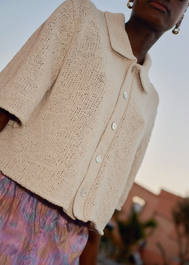 & Other Stories Boxy Short-Sleeved Cardigan