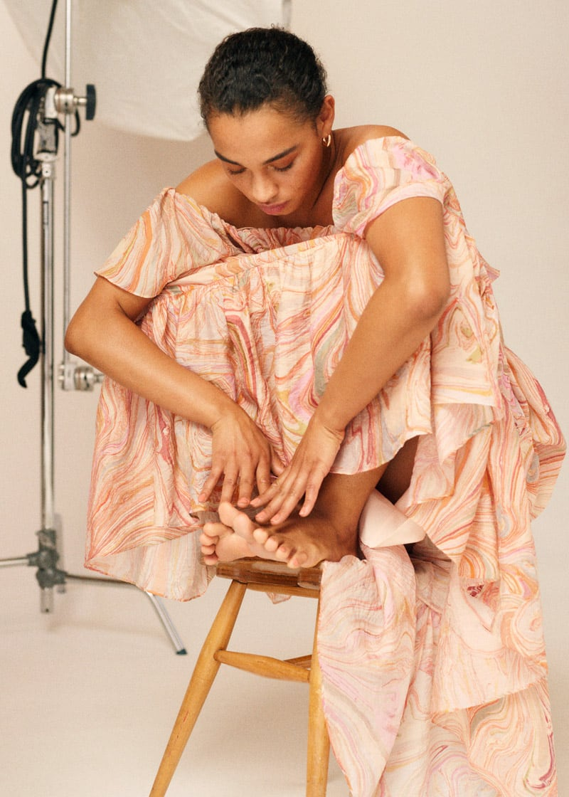& Other Stories Voluminous Off Shoulder Maxi Dress