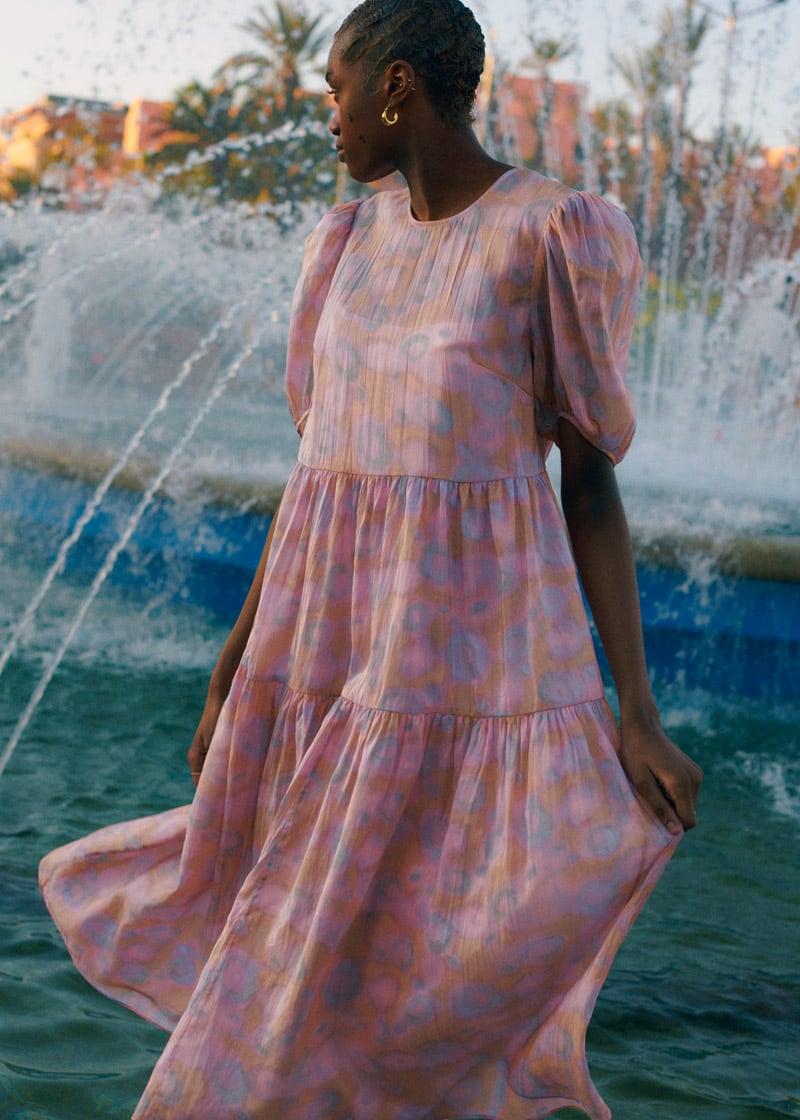 & Other Stories Voluminous Puff Sleeve Midi Dress