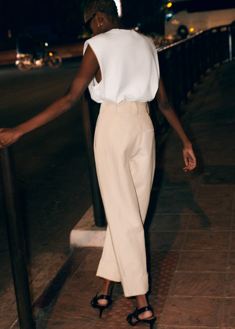 & Other Stories Wide Tailored Trousers