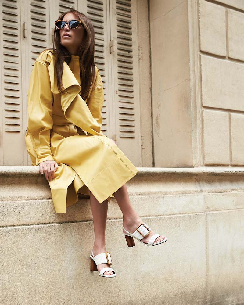 Proenza Schouler Leather Scarf-Neck Wrap Dress