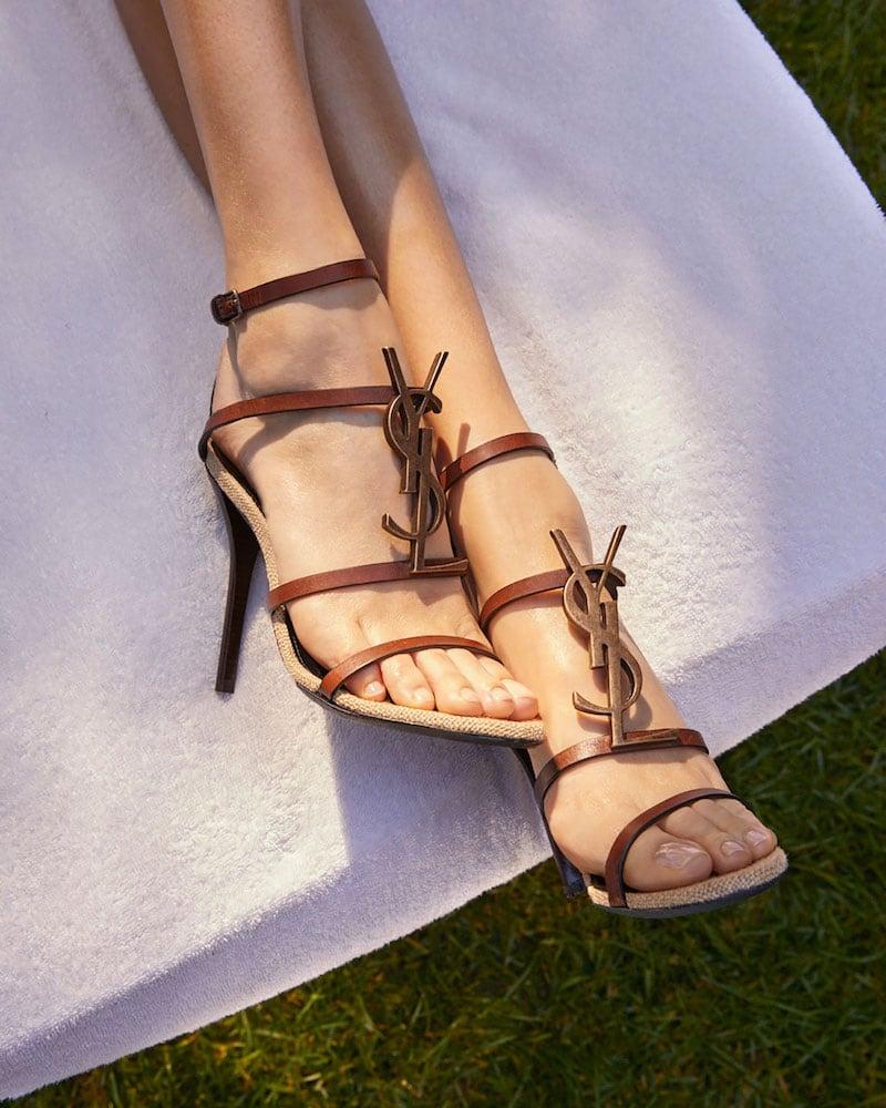 Saint Laurent Cassandre YSL 110mm Sandals