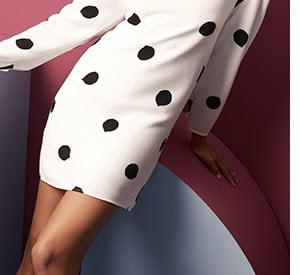 Polka Dots / Try: an understated take on spots.
