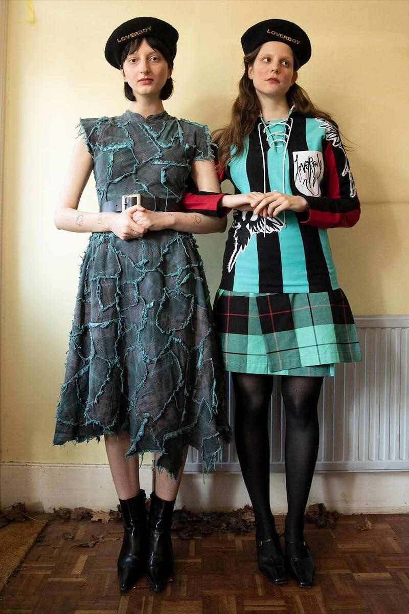 Charles Jeffrey LOVERBOY Bash Crash Patchwork Cotton-Canvas Dress