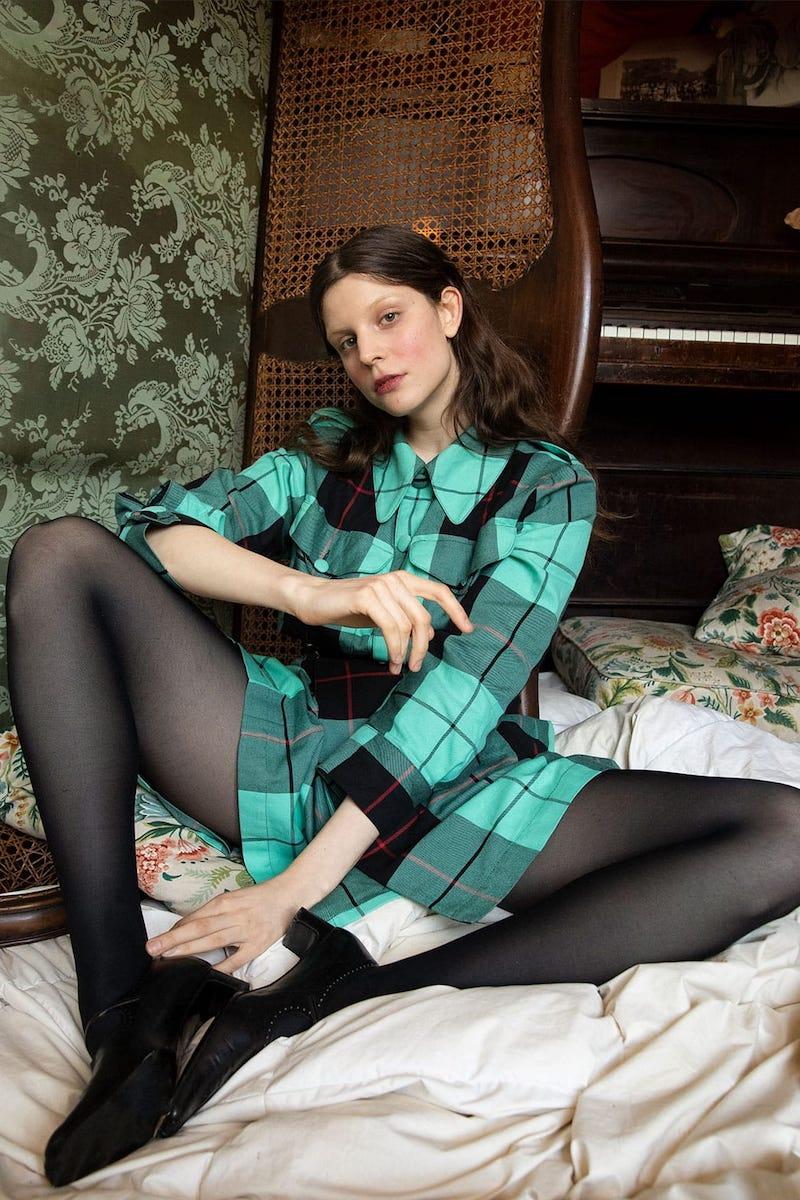 Charles Jeffrey LOVERBOY Hamish Tartan-Checked Cotton Kilt